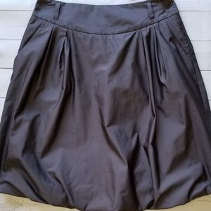 Banana Republic Satiny Dusty Brown Bubble Skirt 6